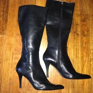 Nine West Genuine Leather Stiletto Boots